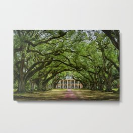 Oak Alley plantation historical site New Orleans USA  Metal Print
