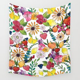Fruits in the Forest Wall Tapestry