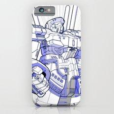 Blue Mecha iPhone 6s Slim Case