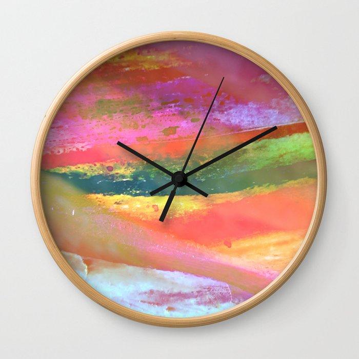 Inside the Rainbow 7 Wall Clock
