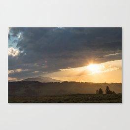 Yellowstone National Park - Sunset, Blacktail Deer Plateau Canvas Print
