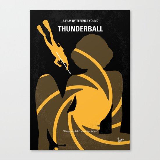 No277-007 My Thunderball minimal movie poster Canvas Print