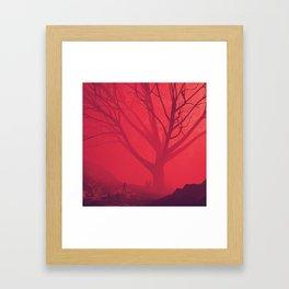 Big Red Framed Art Print