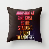 lettering Throw Pillows featuring Lettering 002 by Noem9 Studio