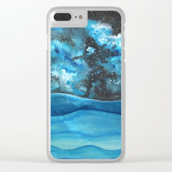 Beautiful Galaxy Clear iPhone Case