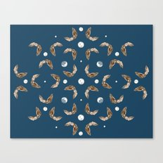 owls & moons Canvas Print