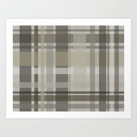 plaid Art Prints featuring Plaid by GoAti