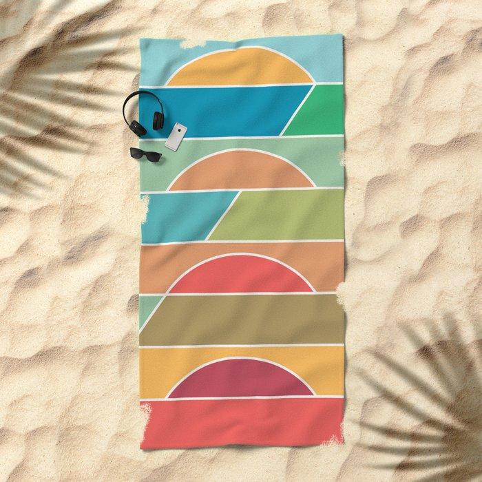 4 Degrees Beach Towel
