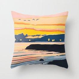 Encinal Beach Throw Pillow