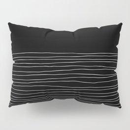 Hand Striped black and white Pillow Sham