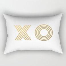 XO gold - minimal Rectangular Pillow
