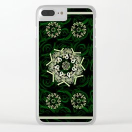 Celtic Pattern on Velvet Background Clear iPhone Case