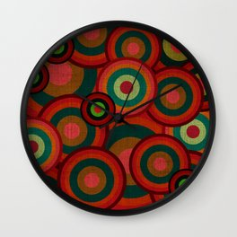"""""""Retro Colorful Circles"""" Wall Clock"""