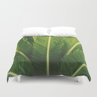 palm tree Duvet Covers featuring palm tree by Life Through the Lens