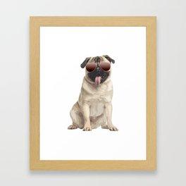 Cool pug Framed Art Print