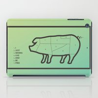 pig iPad Cases featuring Pig by Flequillo