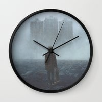 giants Wall Clocks featuring Boy and the Giants by yurishwedoff