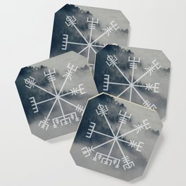Vegvisir | Forest background Coaster