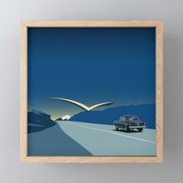 "Soviet Modernism: ""Seagull"" road mark at the northern entry of Yerevan Framed Mini Art Print"