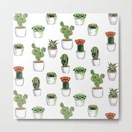 Cacti &  Pugculents Metal Print