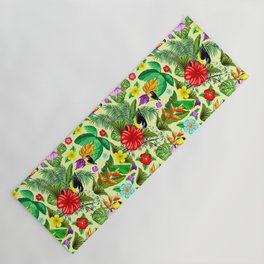 Birds and Nature Floral Exotic Seamless Pattern Yoga Mat