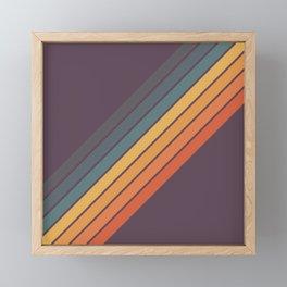 Classic 70s Style Retro Stripes - Dalana Framed Mini Art Print
