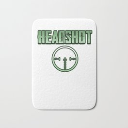 Headshot online internet game shooter gamer fan gift idea Bath Mat