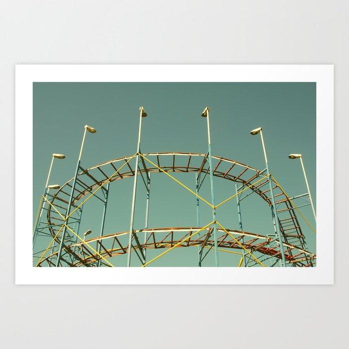 rollercoaster Art Print