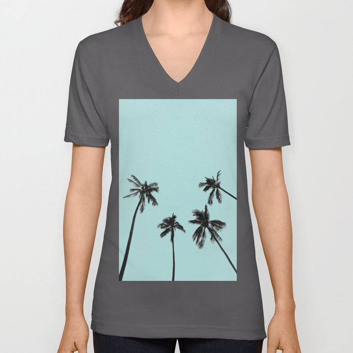 Palm trees 5 Unisex V-Ausschnitt