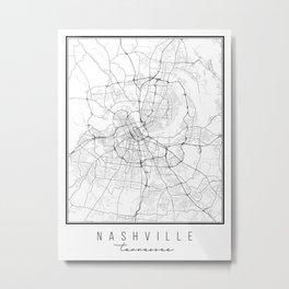 Nashville Tennessee Street Map Metal Print