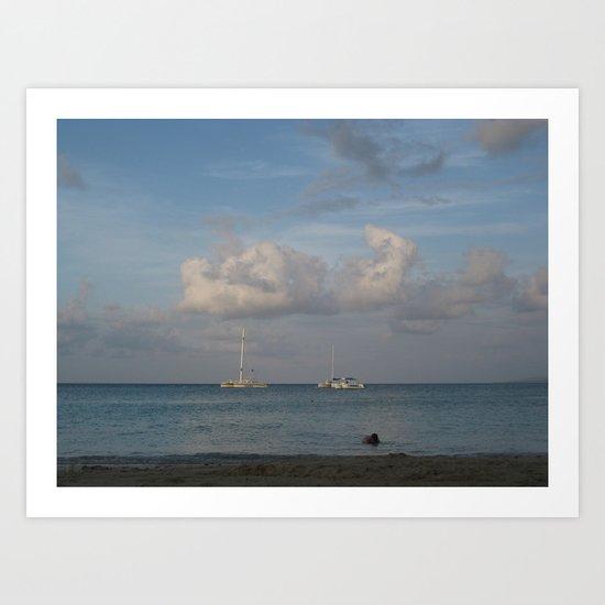 Jamaica - Sailing on the Seas Art Print