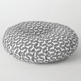 Dachshund Silhouette(s) Floor Pillow