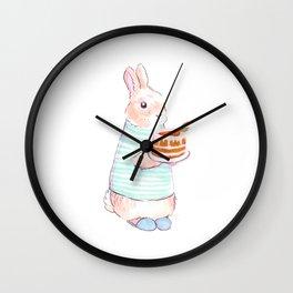 Carrot Cake Bunny Wall Clock