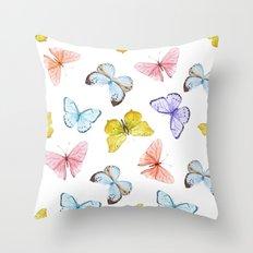 Butterfly Pattern 04 Throw Pillow