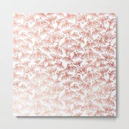 Rose Gold Octopus Print Metal Print