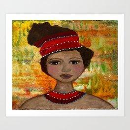 Imara Original Painting by Krista J. Brock Art Print