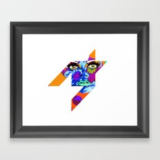 Flowers between your teeth Framed Art Print