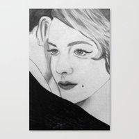 gatsby Canvas Prints featuring Gatsby by Channel Silver
