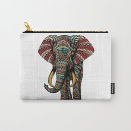 Ornate Elephant (Color Version) Carry-All Pouch