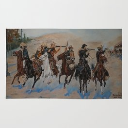 "A Tribute to Frederic Remington, ""Dash for the Timber"" Rug"
