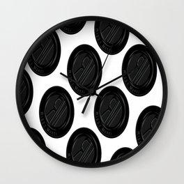 Riggo Monti Design #4 - Riggo Emblem Diagonal Pattern (Wht. Bkgrnd.) Wall Clock