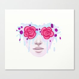 Rose Colored Canvas Print