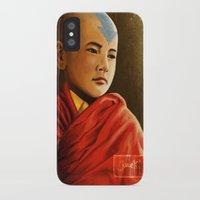 aang iPhone & iPod Cases featuring Avatar Aang by Jamie Williams