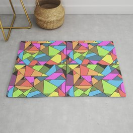 colorful mosaic - patchwork Rug