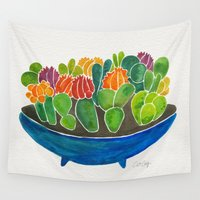 succulents Wall Tapestries featuring Succulents by Cat Coquillette