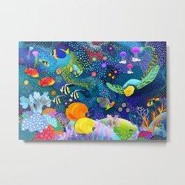 Ocean Tropical Fish Life Metal Print