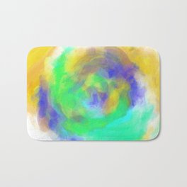 splash painting texture abstract in green blue yellow Bath Mat