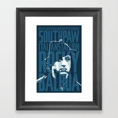 Rocky Balboa Minimal Vector Film Poster Framed Art Print