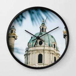 St Charles Church (karlskirche), Karlsplatz, Vienna | Photo Print, Travel Photography Art Print Wall Clock