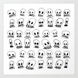 spooky bones Art Print